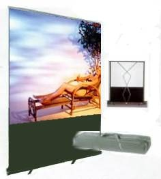 Auszieh-Leinwand - manually adjustable movie screen